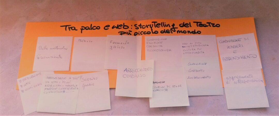 Feedback dei partecipanti, dallo scorso laboratorio di counseling nel Teatro della Concordia